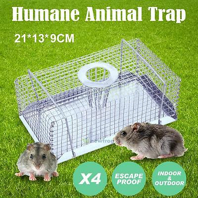 4x Multi Catch Live Mouse Mice Rat Trap Non-escape Mesh Humane Indoor Outdoor