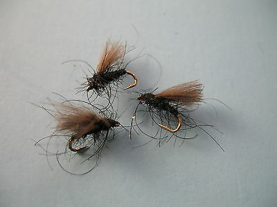 3 x CDC BLACK MIDGE DRY TROUT FLY sizes 16,18,  available