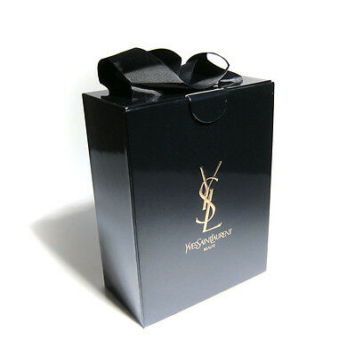 "YSL Yves Saint Laurent Empty Gift Box 8"" x 6"" x 3.5"" - Black"