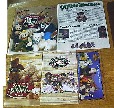 Ganz Cottage Bears 1999,2001,&1999 Doll Catalogs & 2003 Flyer & Chronicle 1998