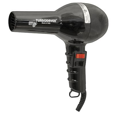 ETI Hair Dryer BLACK Turbo 2000 Professional High Power Fast Hair Drying Salon