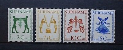 SURINAME 1955 Caribbean Tourist Association. Set of 4 Mint Never Hinged SG430/33