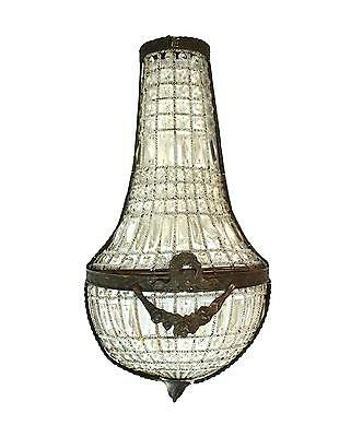 European Crystal Antique Style Wall Sconce Light Fixture Mansion 27""