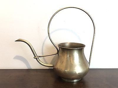 Antique Brass Watering Can Garden Flowers Succulents Small Indoors Art Deco VTG