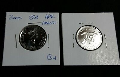 "April 2000 25c Canada Quarter - ""Health"" Millennium Variety - BU"
