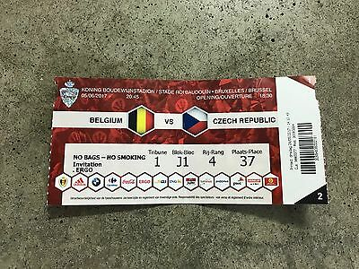 Ticket: Belgium / België / Belgique -Czech Republic  05/06/2017 Friendly