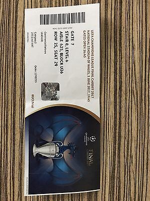 Used Ticket: Juventus Fc - Real Madrid Cf 03/06/17  Champions League Final 16/17