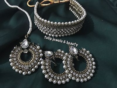 Indian/Pakistani wedding Designer jewellery choker set with tikka