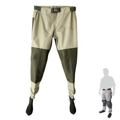 Light-Weight Fishing Waders Breathable Waterproof Trousers with Stocking Foot