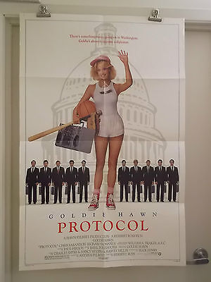 PROTOCOL 1 one sheet movie poster GOLDIE HAWM 1984 original