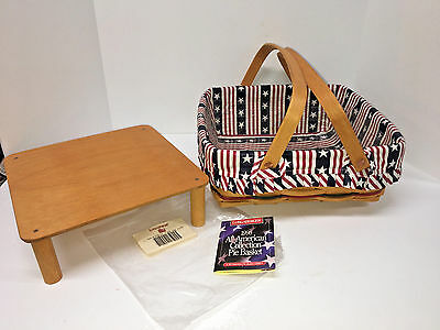 LONGABERGER NEW!All American Collection Pie Basket, Riser, AA/Plastic Liner 1998