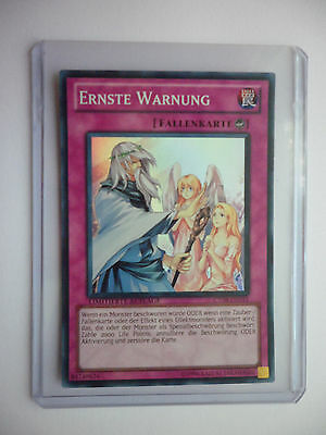 Ernste Warnung CT08-DE015 Super-Rare YU-GI-OH Near MInt
