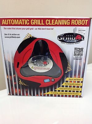 Grillbot Automatic Grill Cleaning Robot Black Rechargeable Battery Included NIB