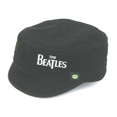Black The Beatles Drop T Logo Military Style Hat