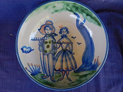 """M.A. Hadley Country Scene PASTA SERVING BOWL 11"""" have lots of items Farmer &"""