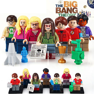 BIG BANG THEORY blocks 7 pcs. and accesories.  Compatible blocks