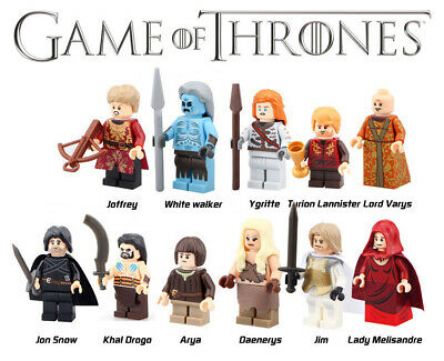 GAME OF THRONES blocks 11 pieces and accesories. HBO. Compatible blocks
