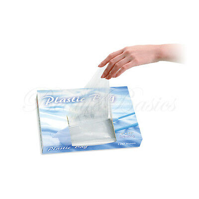 1000 Pcs Disposable Mitts Booties Hand Foot Paraffin Plastic Liner bag-WA2031x10
