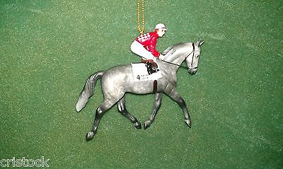 Breyer Race Horse Christmas Ornament -- Native Dancer -- Kentucky Derby Nib