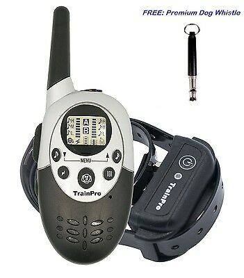 TrainPro 1100 Yard Electric Dog Training Shock e-Collar Remote Rechargeable