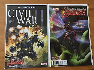 Free Comic Book Day Civil War All New All Different Avengers 9 NM 1st Nadia Wasp