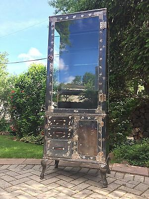 Antique Max Woocher 1930's medical/doctors cabinet Steampunk/Industrial