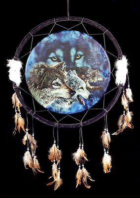 Large Dream catcher with Wolf 60 cm - The Pact - Dreamcatcher Fantasy