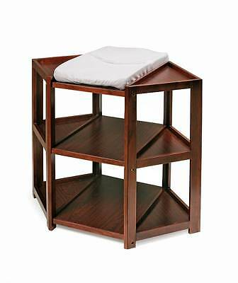 Badger Basket Diaper Corner Changing Table in Cherry Finish [ID 49805]