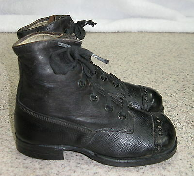 Western Made Well Made Black Leather Vintage Children Boots - Super Nice