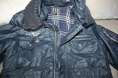 Boys IKKS Jacket Coat, designer, Size 10 years. Removable collar and hood.