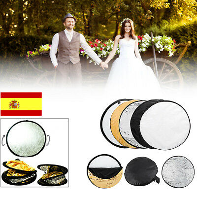 "24""60 cm 5 en 1 estudio de fotografía Multi Photo Disc Reflector de luz plegable"
