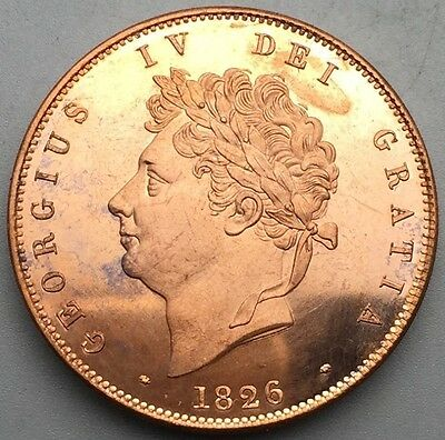 1826 George IV Penny, Copy, (FREE UK POSTAGE AVAILABLE)