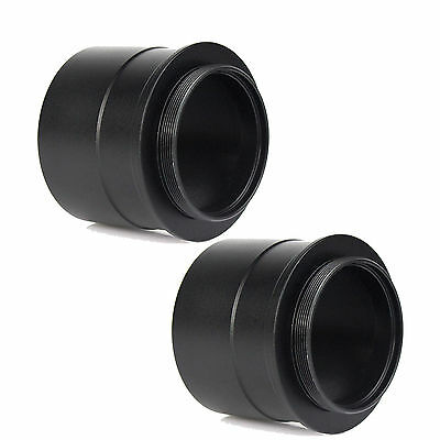 "2pcs  2"" to T2Telescope Eyepiece Mount Adapter Filter w/ Thread to Accept 2"" Hot"