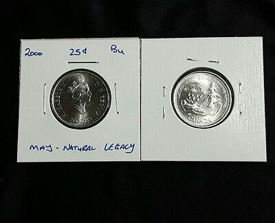 2000 May 25C Natural Legacy Canada 25 Cents