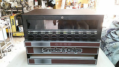 SNACK VENDING MACHINE TABLE TOP 9 SELECTION Compact Vendor w/KEY Chips Candy Med