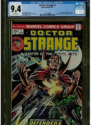 Dr. Strange #2 Cgc 9.4 1974 White Pages  Appearance Of Silver Dagger Spiderman