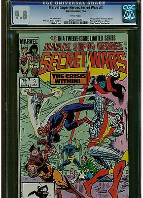 Marvel Super Heroes Secret Wars 3 Cgc 9.8 1St Appearance Volcana Mike Zack White