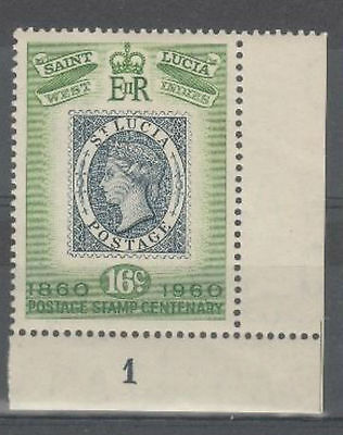 ST LUCIA 1960 16c Green - centenary stamp - see scan