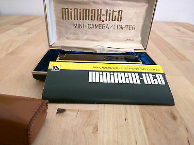 Nikoh Minimax-Lite Mini Spy Camera & Butane Lighter 1980s Mint
