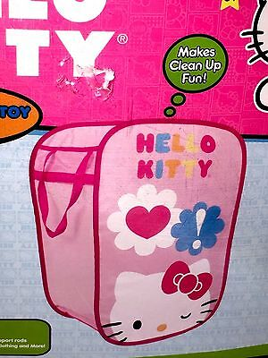 """New 22"""" Hello Kitty Foldable Hamper And Toy Storage Sanrio"""