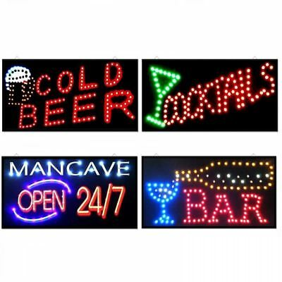 Led Bar Sign Pub Club Window Display Light Lamp Home Restaurant Shop Disco Gift