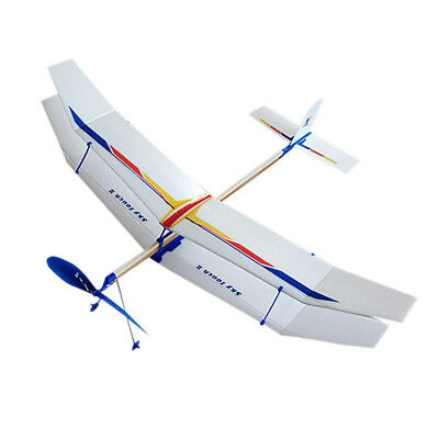 Elastic Rubber Band Powered Foam Plane Kit Aircraft Model Educational Toy New