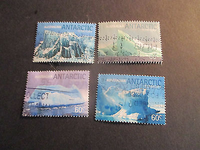 2--2011  Aat Landscapes  -Ice  Burgs    4   Stamps    F/s  -Used--Perf;--A1