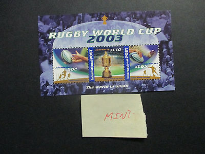 1---2003 --Rugby  World  Cup   --Mini Sheet  -Mint    --F/gum  --A1