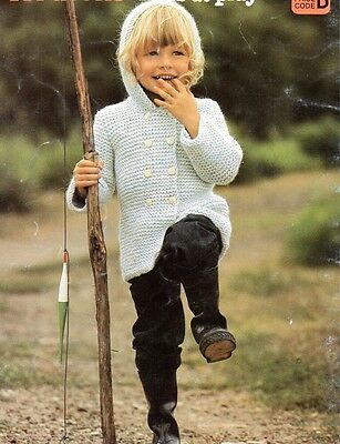 Baby Knitting Pattern Copy Cosy Children's Coat in 8 ply Easy to Knit