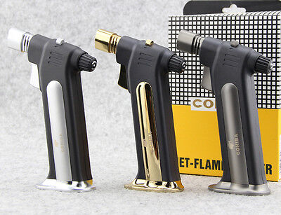 COHIBA inflatable windproof torch lighter wholesale titanium metal welding torch
