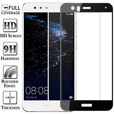 Full Cover Tempered Glass Screen Protector For Huawei P8 P9 P10 Lite Plus 2017