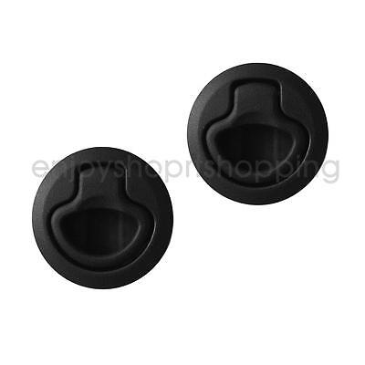 2Pcs Slam Latch Hatch Round Pull Latch 1/2'' Door for RV Marine Boat 2-12mm