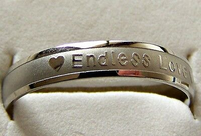 Endless _ Love    ~ S/steel  ~ Size:9  ~  Ring -- (Great_Christmas_Gift)