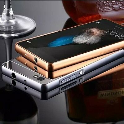 Funda Carcasa Luxury Ultra Thin Aluminum Metal Espejo Cover Para Huawei Phones